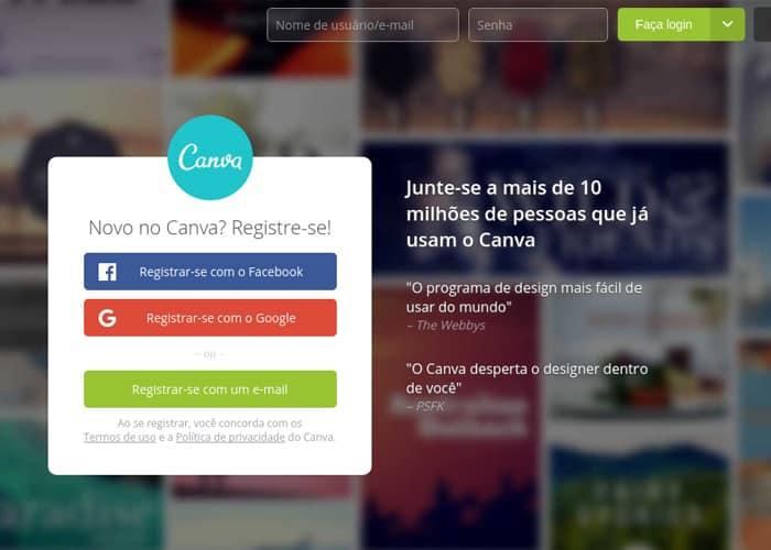 Canva é uma das ferramentas gratuitas para ajudar na criação de imagens