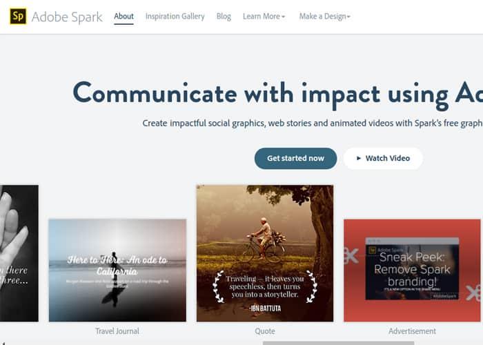 Adobe Spark pode ajudar na criação de imagens para divulgação