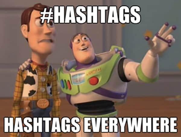 Hashtags nas redes sociais