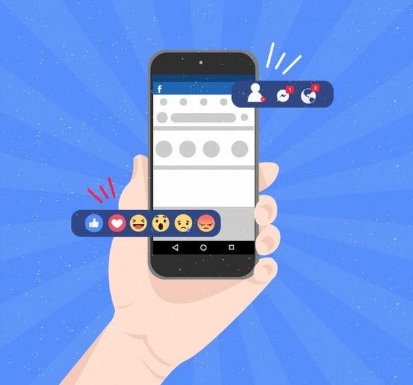 As reações do Facebook ajudam muito no processo de análise de campanha