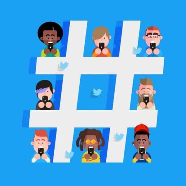 Hashtags nas mídias sociais