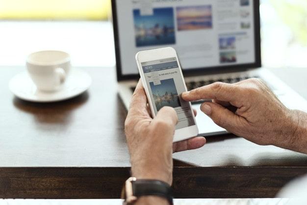As pessoas interagem com os sites de forma diferente em dispositivos móveis.