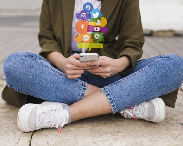 Crie perfis nas mídias sociais