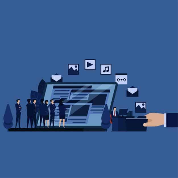 70% de profissionais que usam marketing de conteúdo afirmam que conteúdos com aspectos visuais têm uma performance melhor