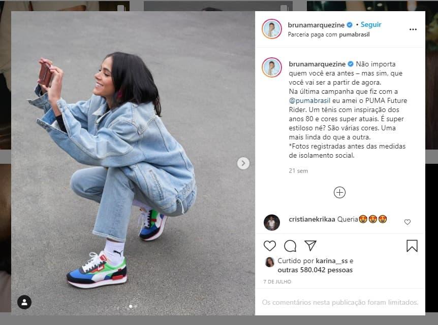 Exemplo de campanha patrocinada no Instagram