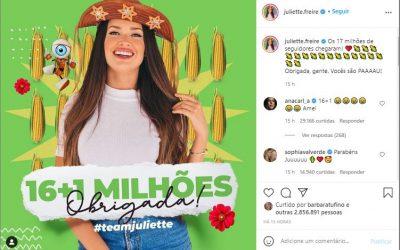 O fenômeno de Juliette nas redes sociais