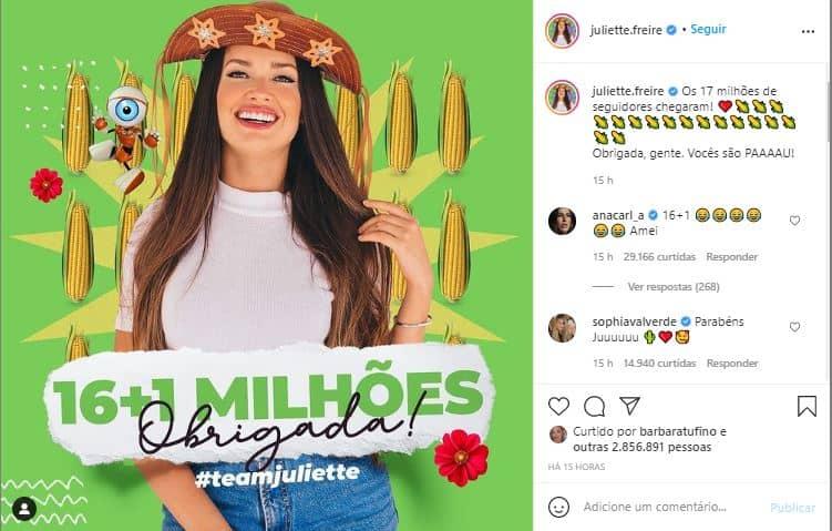 Postagens da Juliette