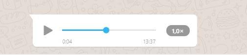 Aceleração de áudio no WhatsApp