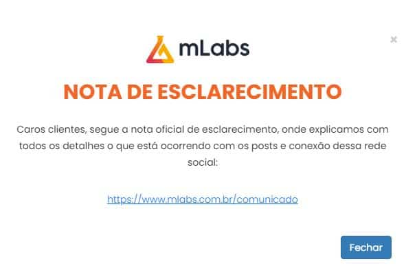 Nota de Esclarecimento do mLabs