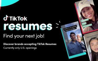 TikTok Resumes: nova função para envio de currículos e recrutamento