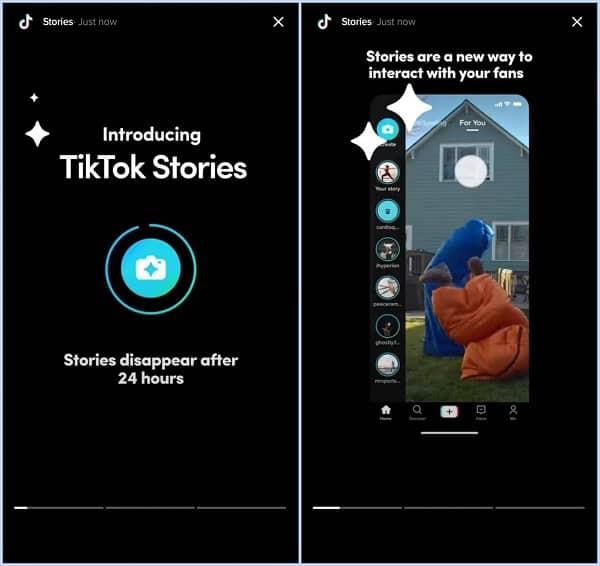 Como será o Storie no TikTok