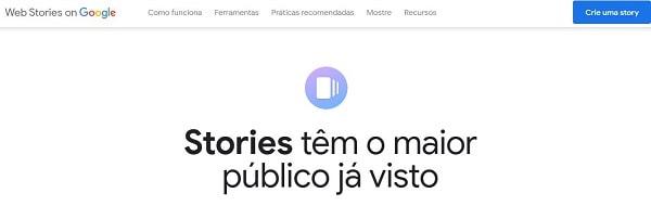 Crie seu Storie com Google