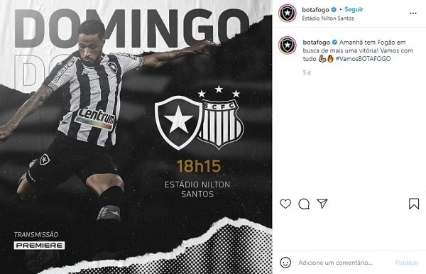 Botafogo nas Redes Sociais